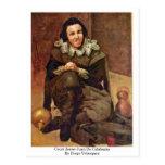 Corte Jester Juan De Calabazas By Diego Velázquez Tarjetas Postales