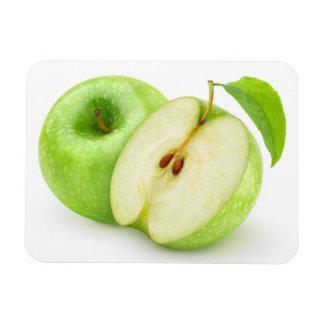 Corte las manzanas verdes imanes rectangulares