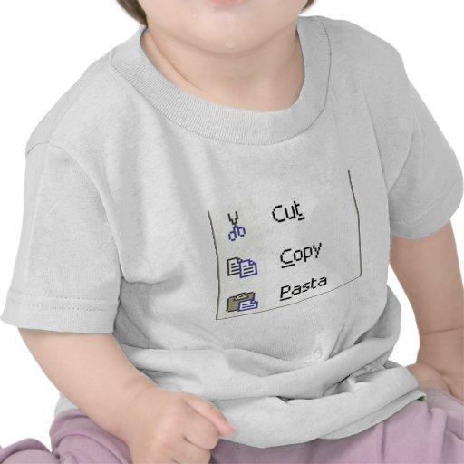 Corte las pastas de la copia camisetas
