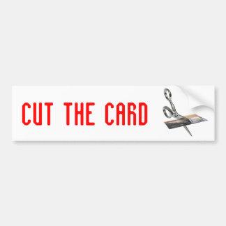corte las tarjetas de crédito, corte la tarjeta pegatina para auto