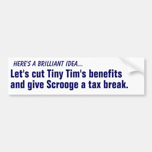 Corte las ventajas de Tim minúsculo… Pegatina De Parachoque