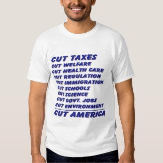 Corte los impuestos, corte América Remeras