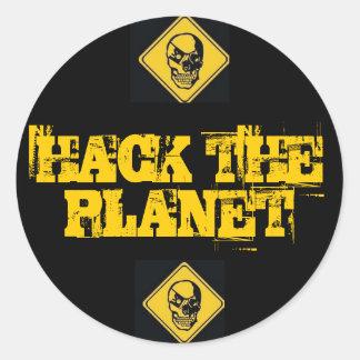 Corte los pegatinas del planeta
