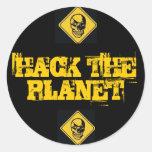 Corte los pegatinas del planeta pegatinas redondas