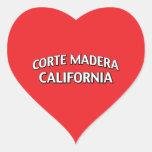 Corte Madera California Heart Stickers