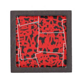 corte mezclado rojo negro cajas de joyas de calidad
