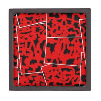 corte mezclado rojo negro caja de joyas de calidad