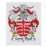Corte-Real Family Crest Posters
