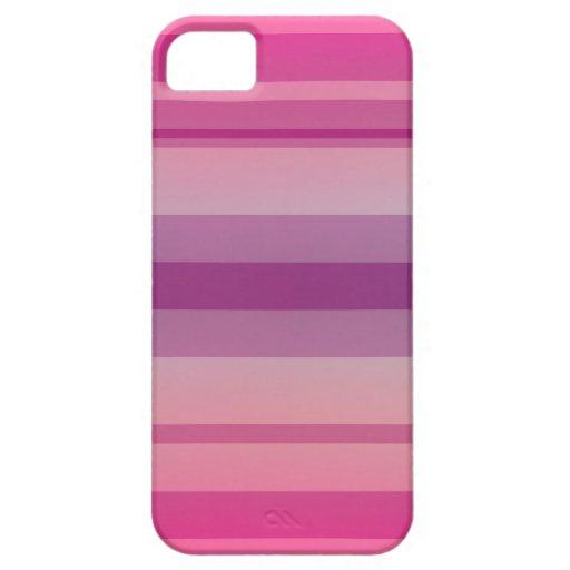 - Corte suave - caja rayada rosa suave de Iphone iPhone 5 Case-Mate Funda