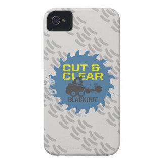 Corte y claro del apagón Case-Mate iPhone 4 protector