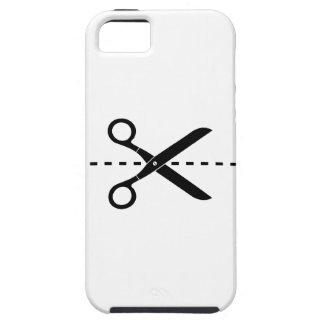 Corte y pegue el caso del iPhone 5 del pictograma Funda Para iPhone 5 Tough