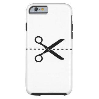 Corte y pegue el caso del iPhone 6 del pictograma Funda Para iPhone 6 Tough