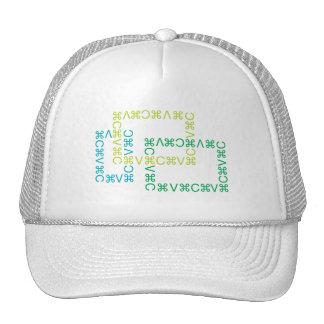 Corte y pegue el casquillo 4 gorras