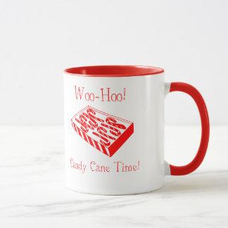 ¡Corteje-Hoo! ¡Bastones de caramelo! Taza de café