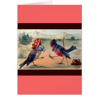 Cortejo de pájaros tarjeta
