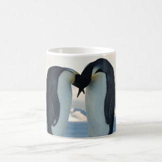 Cortejo del pingüino de emperador taza de café