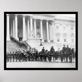 Cortejo fúnebre 1921 del soldado desconocido póster