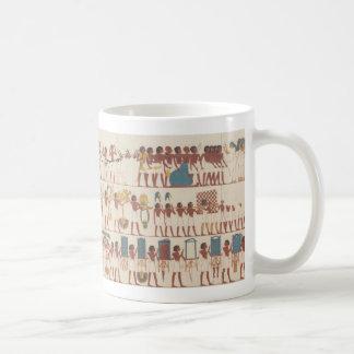 Cortejo fúnebre egipcio antiguo taza