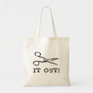Córtelo hacia fuera Scissors Bolsa Tela Barata