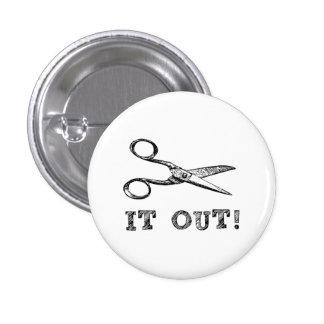 Córtelo hacia fuera Scissors Pin Redondo De 1 Pulgada