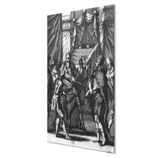 Cortes and Montezuma Canvas Print