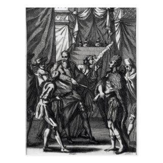 Cortes and Montezuma Postcard