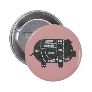 Cortes de cerdo III Pins