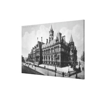 Cortes de la tasa, Manchester, c.1910 Impresión En Tela