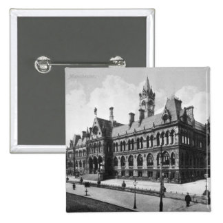 Cortes de la tasa, Manchester, c.1910 Pin Cuadrado