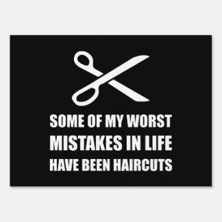 Cortes de pelo de los errores señal