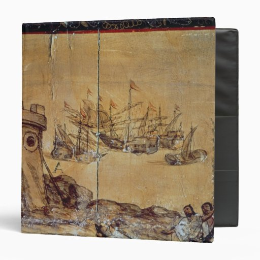 Cortes sails for Mexico, 1518 3 Ring Binders