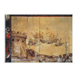 Cortes sails for Mexico, 1518 Stretched Canvas Prints