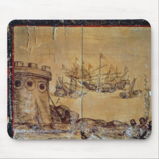 Cortes sails for Mexico, 1518 Mouse Pad