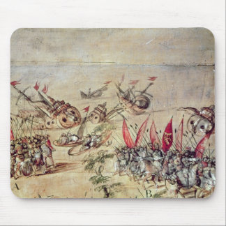 Cortes sinking his fleet off the coast of mouse pad
