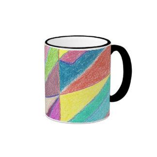 Cortes y taza coloridos de las facetas