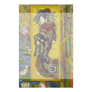Cortesana después de Eisen de Vincent van Gogh Tarjeta Publicitaria