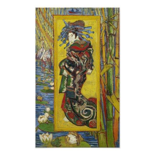 Cortesana (después de Eisen) por Vincent van Gogh Foto