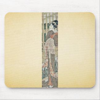 Cortesana que mira en el terraplén por Utagawa, To Mousepads