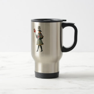 Cortesano medieval taza de viaje