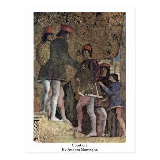 Cortesanos de Andrea Mantegna Postales