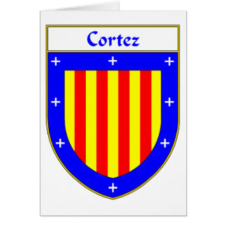 Cortez Coat of Arms/Family Crest Greeting Card