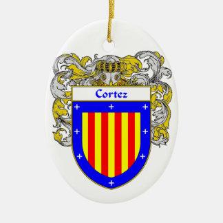 Cortez Coat of Arms/Family Crest Ceramic Ornament