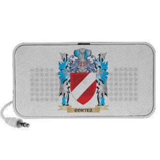 Cortez Coat of Arms - Family Crest Laptop Speaker