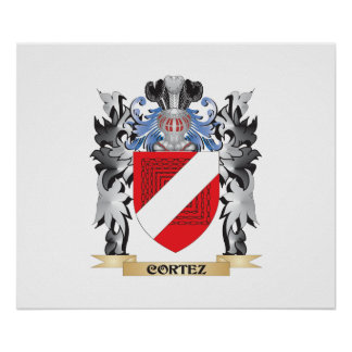 Cortez Coat of Arms - Family Crest Poster