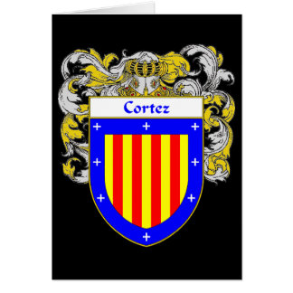 Cortez Coat of Arms (Mantled) Greeting Card