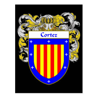 Cortez Coat of Arms (Mantled) Postcard