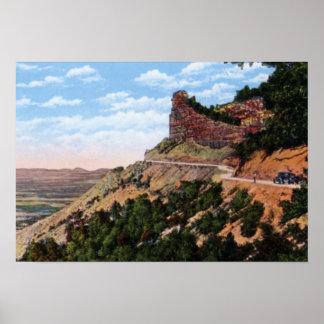 Cortez Colorado Mesa Verde Knife Edge Road Poster