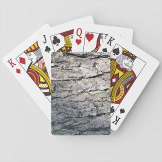 Corteza áspera barajas de cartas
