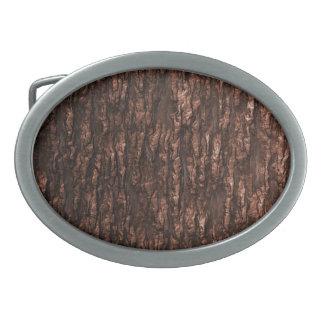Corteza Camo de Brown Hebilla Cinturon Oval