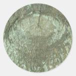 Corteza Camo del ojo del árbol de los robles del Pegatina Redonda